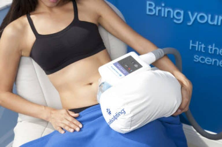 female receives coolcore treatment